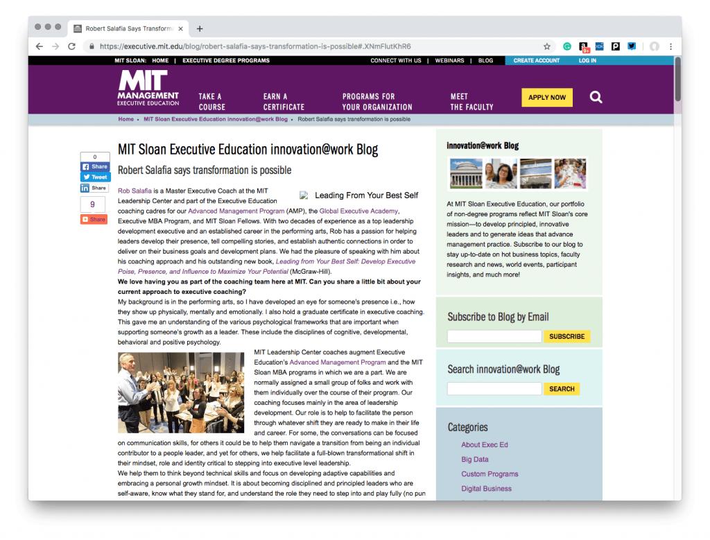 MIT Sloan Executive Education innovation@work Blog