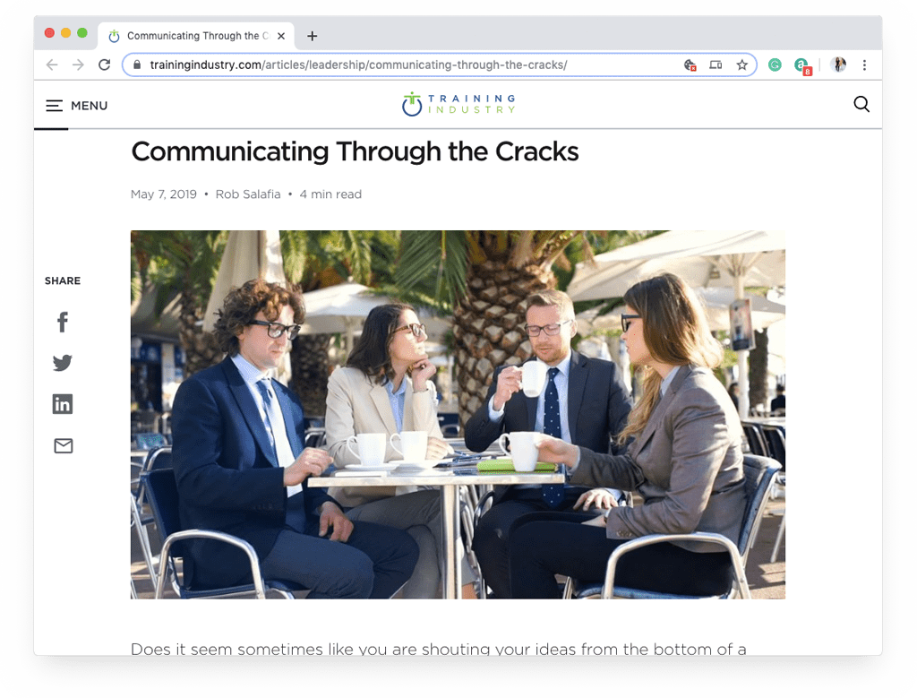 Communicating Through the Cracks
